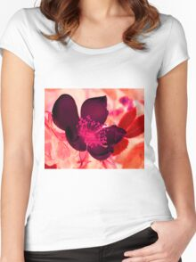 Mocha Blossom Women's Fitted Scoop T-Shirt