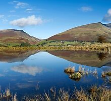 Skiddaw, Lonscale Fell and Blencathra from Tewet Tarn by Martin Lawrence