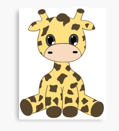 Chibi Giraffe Canvas Print