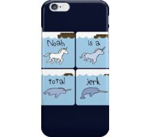 Unicorn Evolution (Noah is a jerk) iPhone Case/Skin