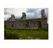 Ruined Cottage at Cashelnagor, County Donegal, Ireland Art Print