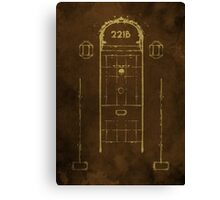 Sherlock, Front Door of 221B Baker Street (Colour) Canvas Print