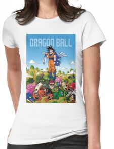 Dragon Ball Z Book Cover Womens Fitted T-Shirt