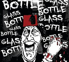 Glass Bottle Bottle Glass - Tommy Cooper by Phil Potter