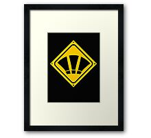 EXCLAMATION signs? Framed Print