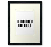 "Barcode ""High Tech Low Life"" Framed Print"