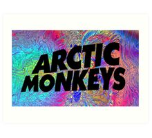 Psychedelic Arctic Monkeys Art Print
