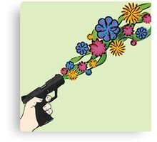 Floral Weaponry Canvas Print