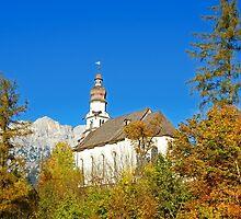 Pilgrimage church  St. Anthony in Rietz Austria by Elzbieta Fazel