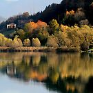 Autumn on the Lake Endine by annalisa bianchetti