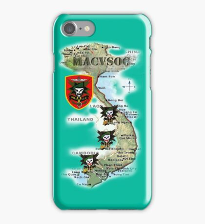 Map of MacVsog's area of operation. iPhone Case/Skin