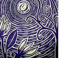 Moonflower Blue by Colette Diedricks
