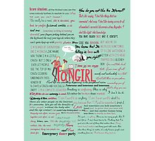 Fangirl + Quotes Photographic Print