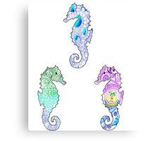 Tie Dye Cute Sea Horse Pack Canvas Print