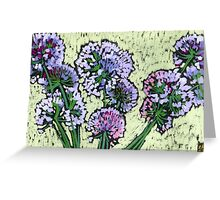 Onion flowers bouquet  Greeting Card