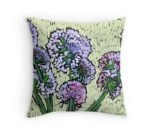 Onion flowers bouquet  Throw Pillow