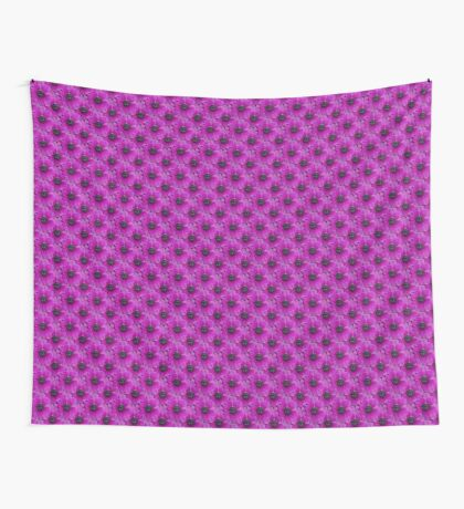Natural Blooming Flowers -  Violet Anemeone Wall Tapestry