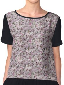 Natural Blooming Flowers - Pink and Purple Azaelas Chiffon Top