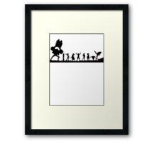 one piece crew Framed Print