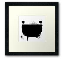 Inked Pixel Grin Framed Print