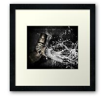 Fluidity Of Anger Framed Print