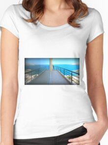 Mirror Image - Travel Photography Women's Fitted Scoop T-Shirt