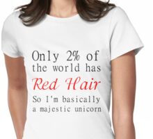 RED HAIR MAJESTIC UNICORN Womens Fitted T-Shirt