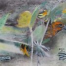 """Eye on the Sparrow""On a back side of a 4 ply mat board by David M Scott"