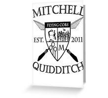 Mitchell Quidditch Design 2 Greeting Card