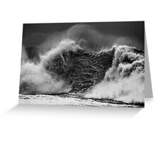 Wave With A Heavy Heart Greeting Card