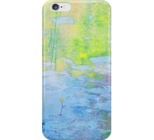 Impression of Seacourt Stream with Spatterdock iPhone Case/Skin