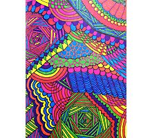 Colorful Geometric Patterned Line Drawing Photographic Print