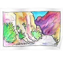 Long Canyon Road, Moab, UT Poster