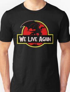 We Live Again - Gargoyles Jurassic Park T-Shirt