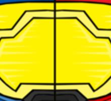 Red vs Blue Helmet Sticker
