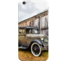 1928 Ford Model A Watercolor iPhone Case/Skin