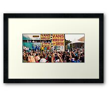 The 2011 VANS World Cup of Surfing trophy goes to John John Florence. Framed Print
