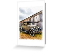 1928 Ford Model A Watercolor Greeting Card