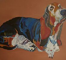 Margery Basset Hound by Sophie Monaghan