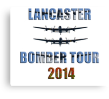 Lancaster bomber tour 2014 Canvas Print