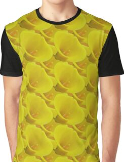 Natural Blooming Flowers - Yellow Callas Graphic T-Shirt