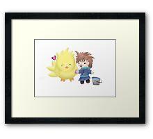 Chocobo <3 Bathtime Framed Print