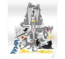 The Stark Direwolves Poster