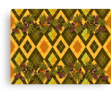 Mac Campbell's Argyle with Acorns, leaves and tartan Canvas Print