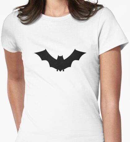 Bat Womens Fitted T-Shirt