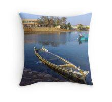 boat no. 13 Throw Pillow