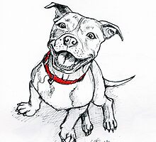 Happy Staffie by jurious
