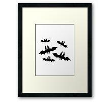 Black horror bats Framed Print