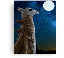 Lonely Cubone Under the Night Sky Canvas Print