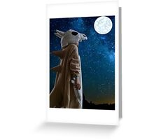 Lonely Cubone Under the Night Sky Greeting Card
